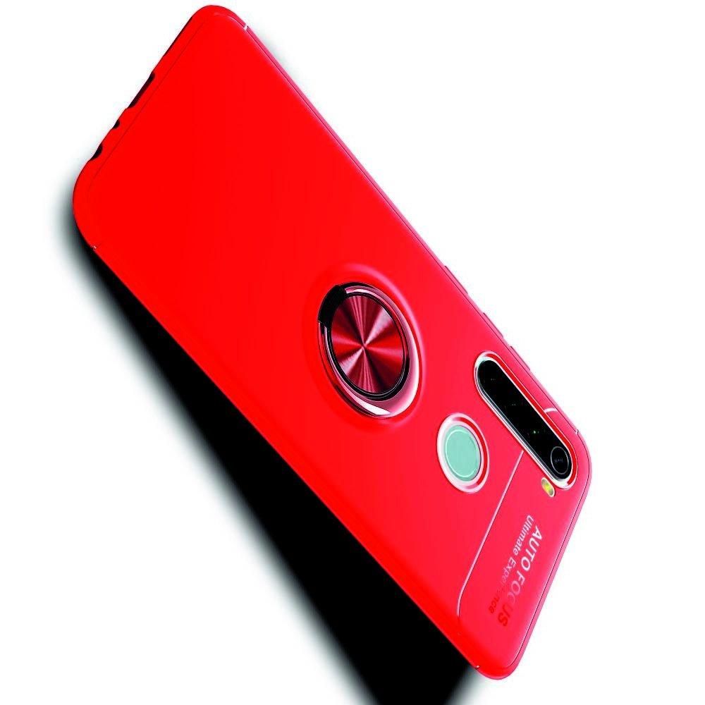 ArmaRing Двухкомпонентный чехол для Xiaomi Redmi Note 8T / Note 8 с кольцом для магнитного автомобильного держателя - Красный