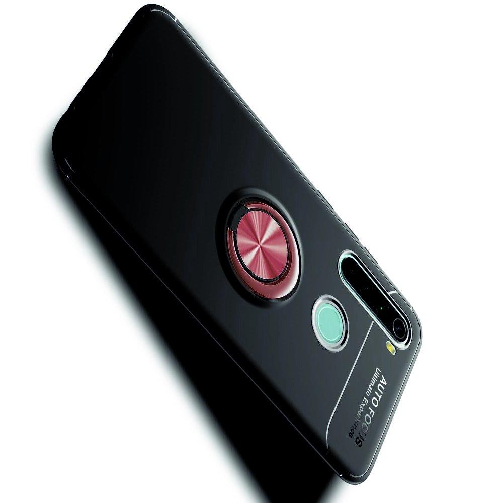 ArmaRing Двухкомпонентный чехол для Xiaomi Redmi Note 8T / Note 8 с кольцом для магнитного автомобильного держателя - Розовое Золото / Черный