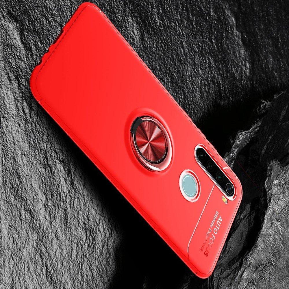ArmaRing Двухкомпонентный чехол для Xiaomi Redmi Note 8T с кольцом для магнитного автомобильного держателя - Красный