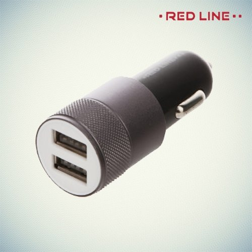Автомобильная зарядка 2.1А USB Red Line C20 черная