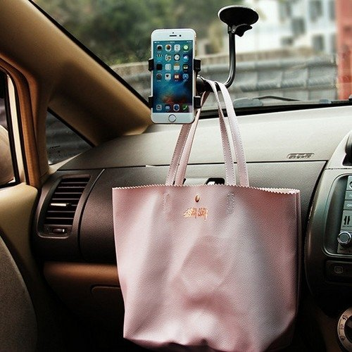 Автомобильный держатель для смартфона на длинной штанге прищепка краб