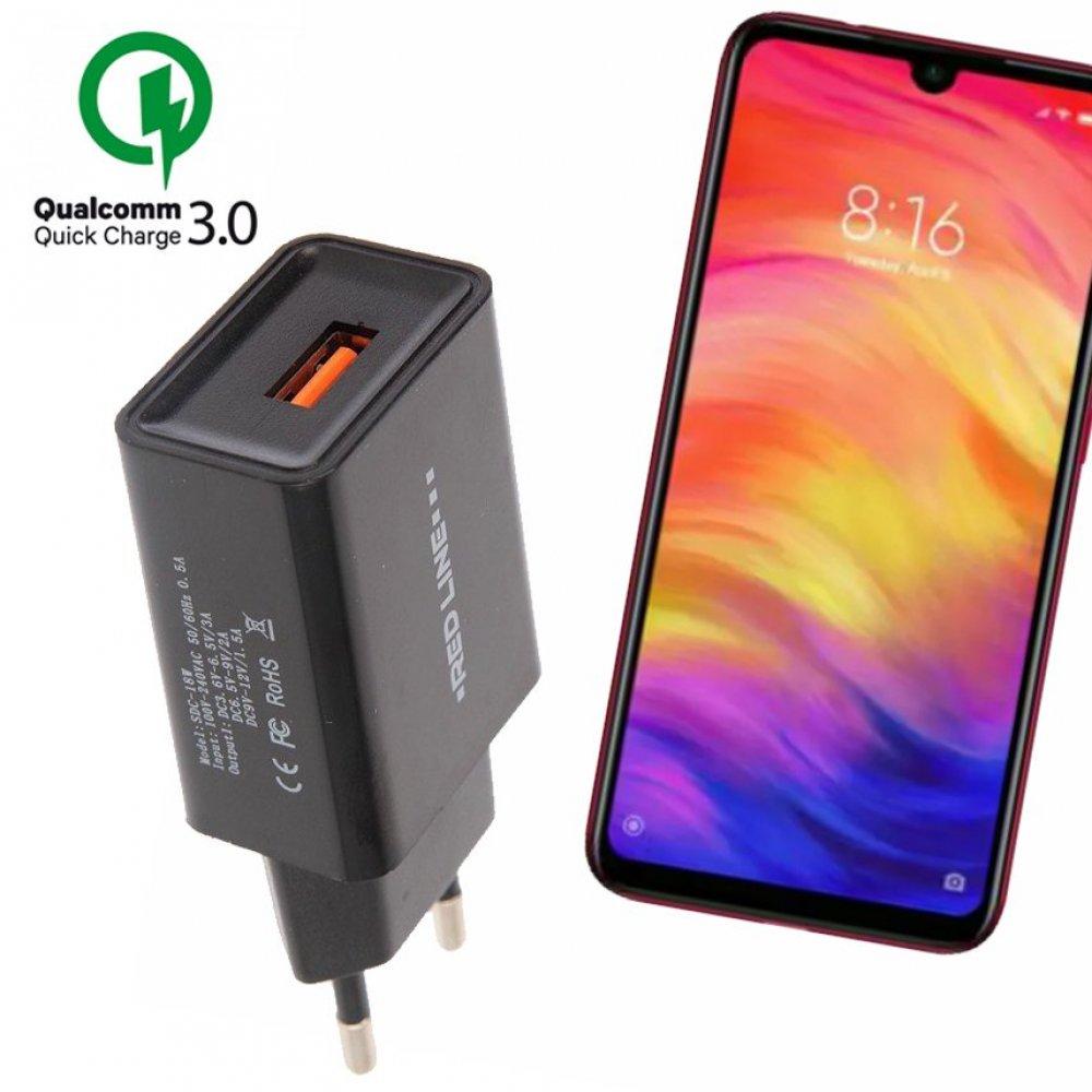 быстрая зарядка для Xiaomi Redmi Note 7 7 Pro Quick сharge 3 0 купить в интернет магазине принтофон в москве и спб