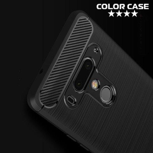 Carbon Силиконовый матовый чехол для HTC U12 Plus - Черный
