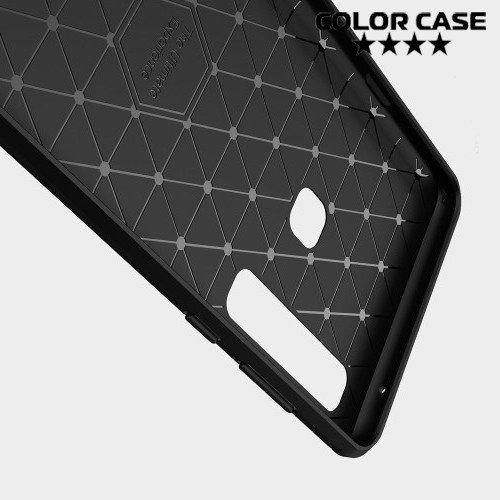 Carbon Силиконовый матовый чехол для Samsung Galaxy A9 2018 SM-A920F - Коралловый