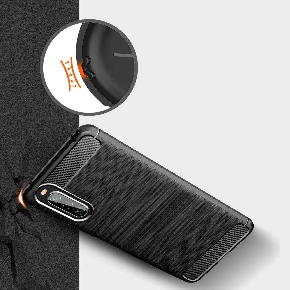 Carbon Силиконовый матовый чехол для Sony Xperia 10 II - Коралловый