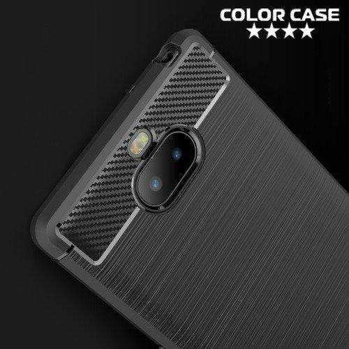 Carbon Силиконовый матовый чехол для Sony Xperia XA3 - Коралловый