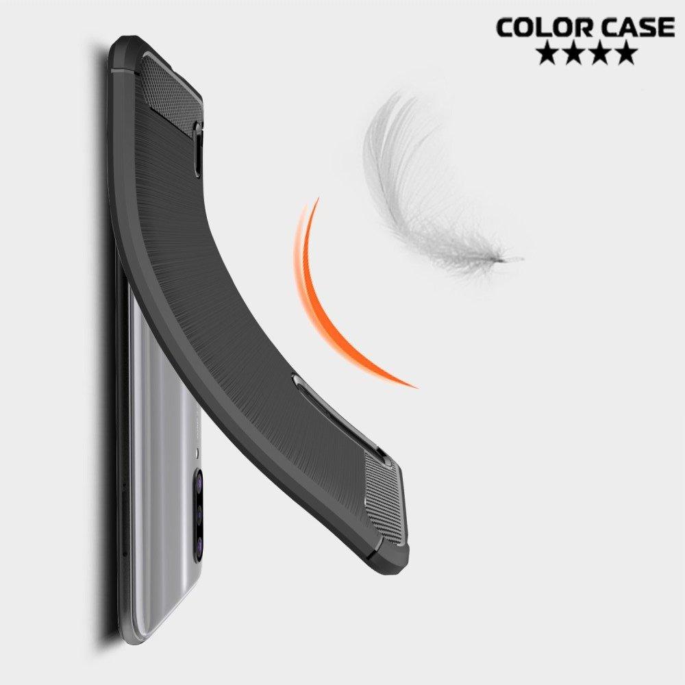 Carbon Силиконовый матовый чехол для Xiaomi Mi 9 lite - Синий