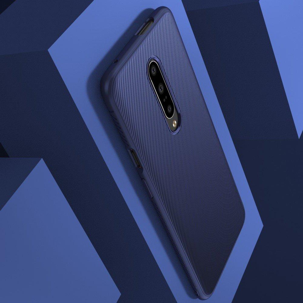 Carbon Силиконовый матовый чехол для Xiaomi Redmi 7A - Синий цвет