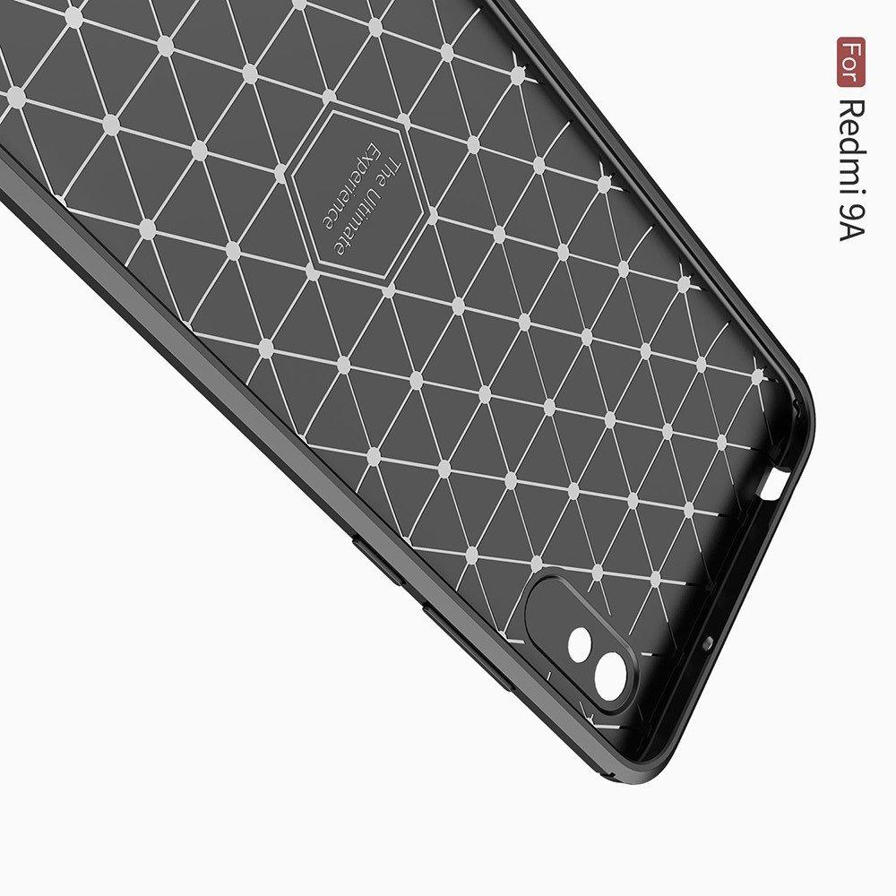 Carbon Силиконовый матовый чехол для Xiaomi Redmi 9A - Красный