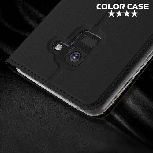 Чехол флип книжка для Samsung Galaxy A8 2018 - Черный