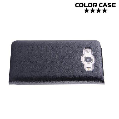 Чехол флип книжка для Samsung Galaxy J5 2016 SM-J510 - Черный