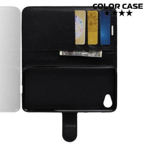 Чехол книжка для HTC Desire 12 - Черный