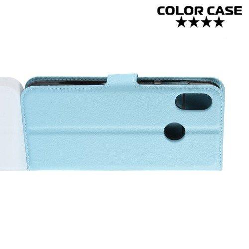Чехол книжка для HTC U12 Life - Голубой