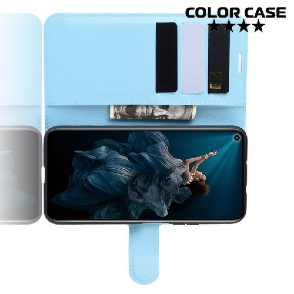 Чехол книжка для Huawei Honor 20 Pro - Голубой