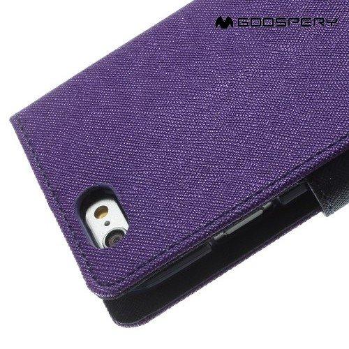Чехол книжка для iPhone 6S / 6 Mercury Goospery - Фиолетовый