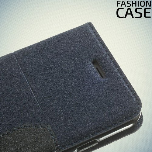 Чехол книжка для iPhone 6S / 6 с скрытой магнитной застежкой - Синий