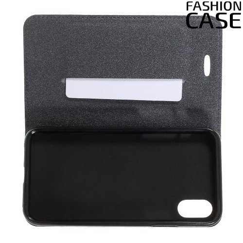 Чехол книжка для iPhone Xs / X с скрытой магнитной застежкой - Серый