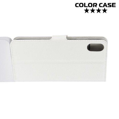 Чехол книжка для iPhone XS Max - Белый
