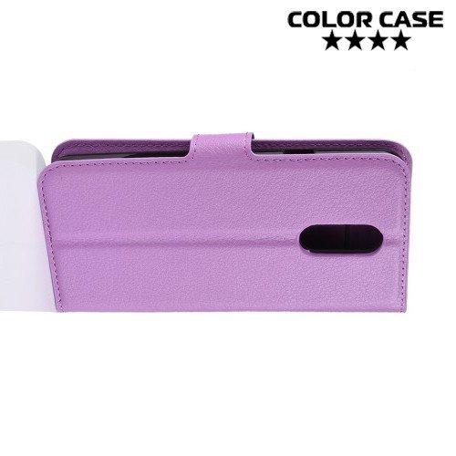 Чехол книжка для LG Q7 / Q7+ / Q7a - Фиолетовый