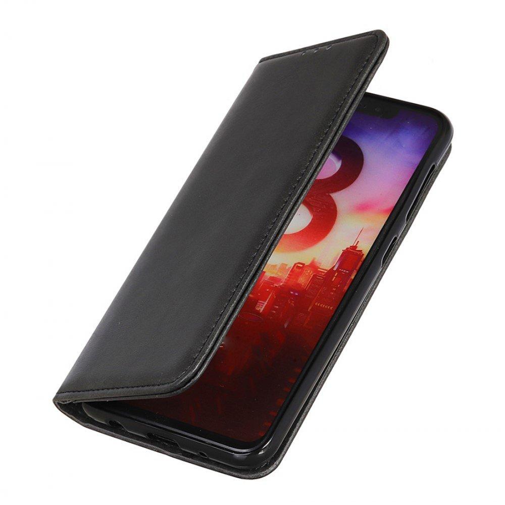 Чехол книжка для Motorola Moto G9 Play / Moto E7 Plus с магнитом и отделением для карты - Черный