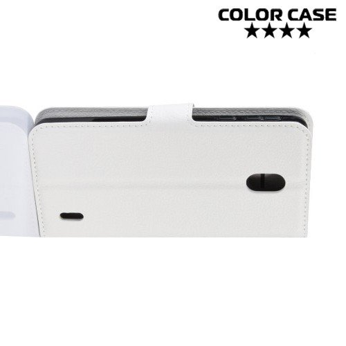 Чехол книжка для Nokia 1 Plus - Белый