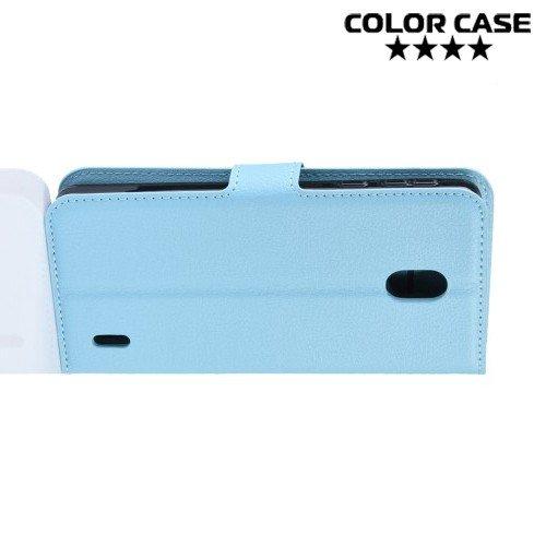 Чехол книжка для Nokia 1 Plus - Голубой