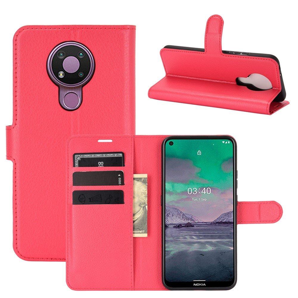 Чехол книжка для Nokia 3.4 отделения для карт и подставка Красный