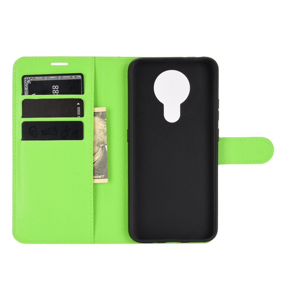 Чехол книжка для Nokia 3.4 отделения для карт и подставка Зеленый