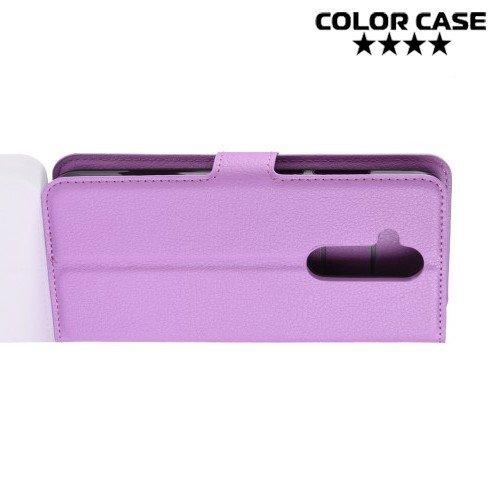 Чехол книжка для Nokia 8.1 - Фиолетовый
