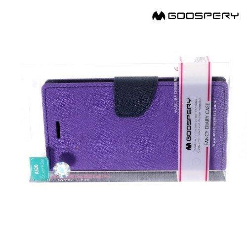 Чехол книжка для Samsung Galaxy A3 2017 SM-A320F Mercury Goospery - Фиолетовый