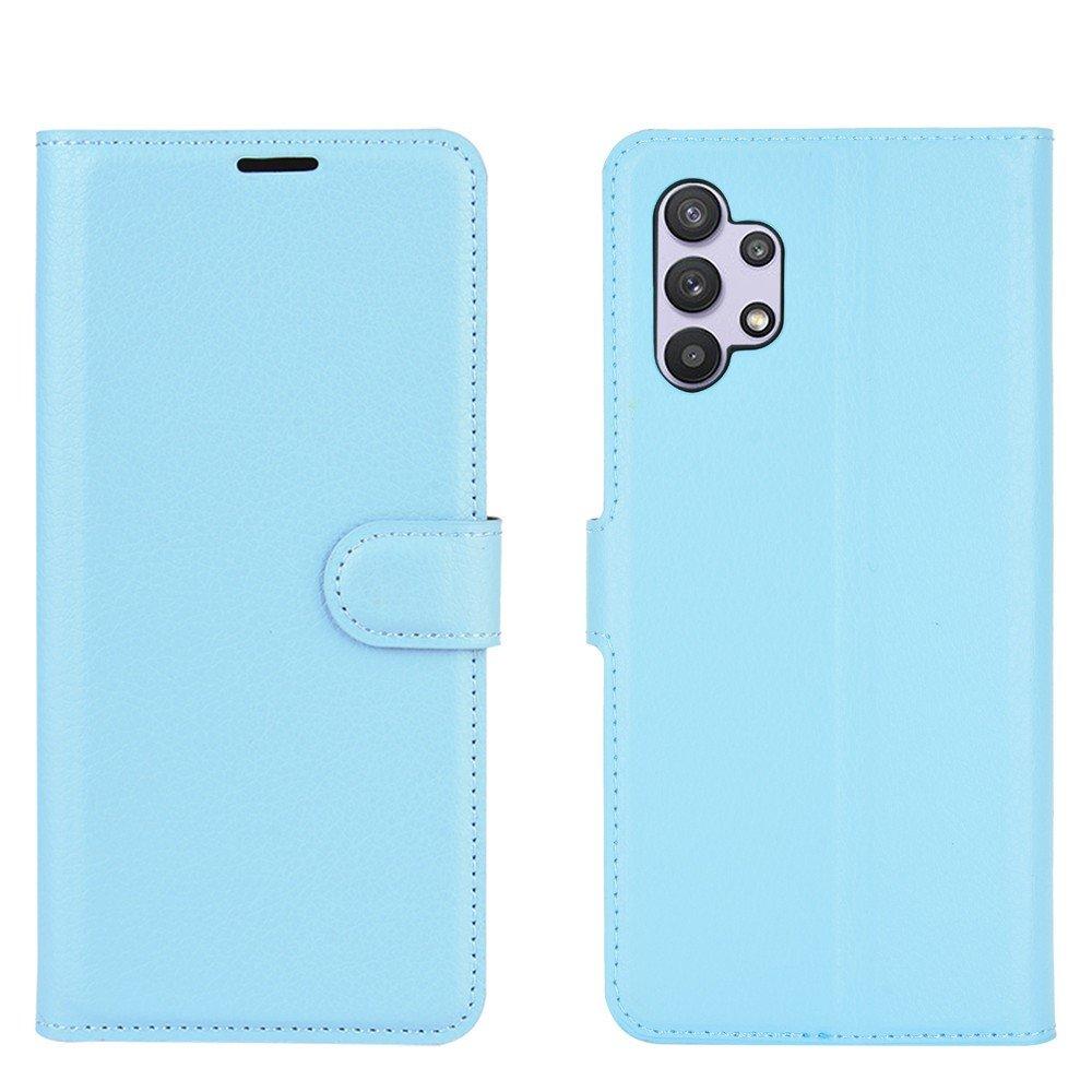 Чехол книжка для Samsung Galaxy A32 отделения для карт и подставка Синий