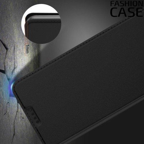Чехол книжка для Samsung Galaxy A5 2018 SM-A530F с скрытой магнитной застежкой - Черный