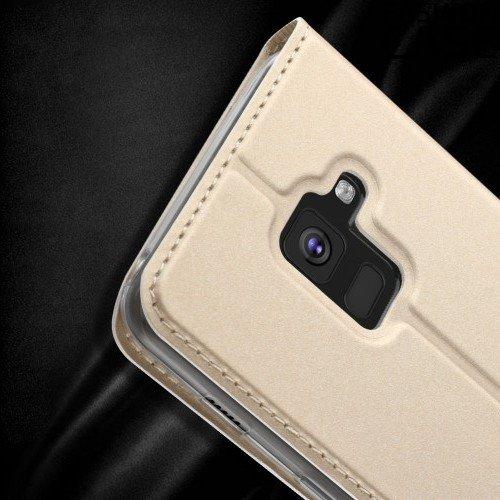 Чехол книжка для Samsung Galaxy A5 2018 SM-A530F с скрытой магнитной застежкой - Золотой