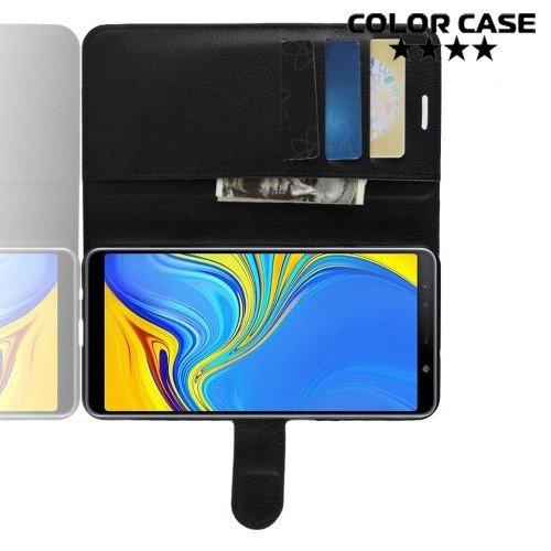 Чехол книжка для Samsung Galaxy A7 2018 SM-A750F - Черный