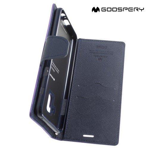 Чехол книжка для Samsung Galaxy A8 2018 Mercury Goospery - Фиолетовый