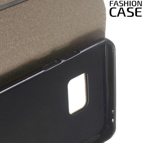 Чехол книжка для Samsung Galaxy Note 7 с скрытой магнитной застежкой - Золотой