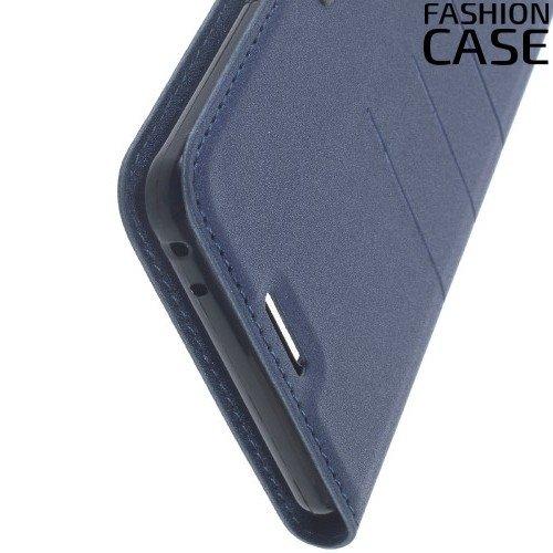 Чехол книжка для Samsung Galaxy Note 7 с скрытой магнитной застежкой - Синий