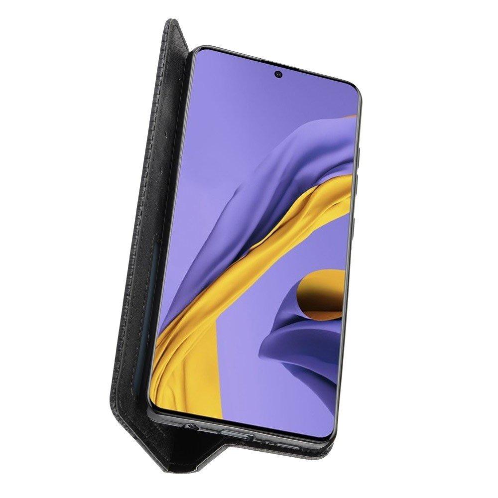 Чехол книжка для Samsung Galaxy S20 Plus с магнитом и отделением для карты - Черный