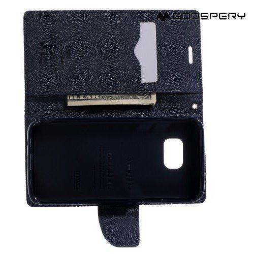 Чехол книжка для Samsung Galaxy S7 Edge Mercury Goospery - Фиолетовый