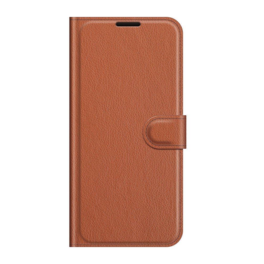 Чехол книжка для Xiaomi Mi 11 Lite отделения для карт и подставка Коричневый
