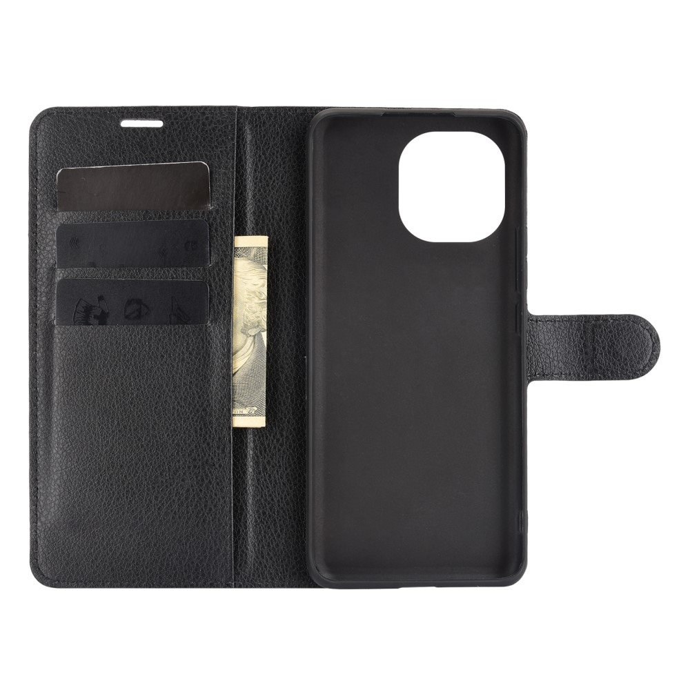 Чехол книжка для Xiaomi Mi 11 отделения для карт и подставка Черный