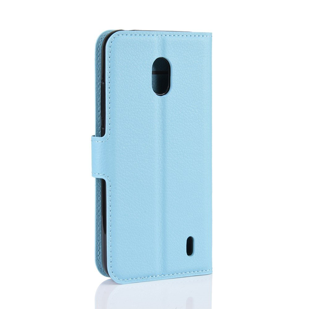 Чехол книжка кошелек с отделениями для карт и подставкой для Xiaomi Redmi 8A - Голубой