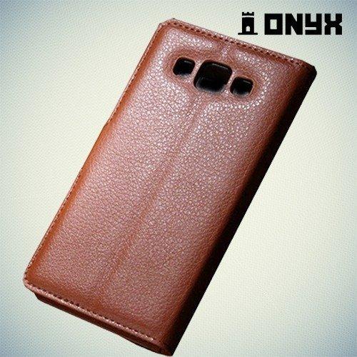 Чехол книжка для Samsung Galaxy A5 - коричневый