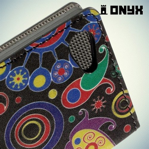 Чехол книжка для Sony Xperia Z5 Compact с рисунком Пейсли Бута