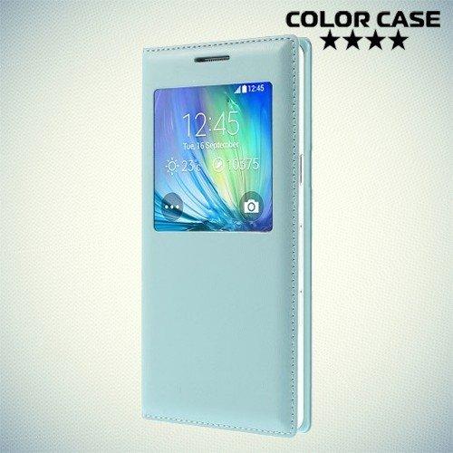 Чехол книжка с окном для Samsung Galaxy A5 - ColorCase Голубой