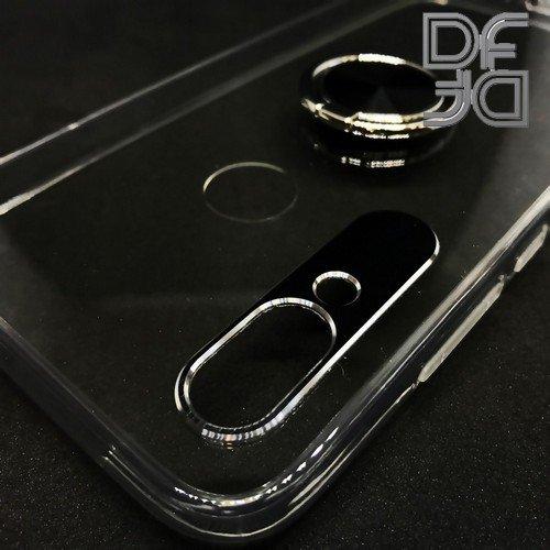 DF Двухкомпонентный чехол для Xiaomi Redmi 7 с кольцом для магнитного автомобильного держателя - Прозрачный