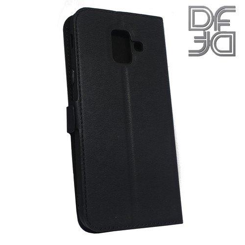 DF флип чехол книжка для Samsung Galaxy A6 2018 SM-A600F - Черный