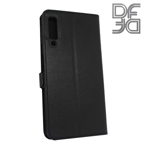 DF флип чехол книжка для Samsung Galaxy A7 2018 SM-A750F - Черный