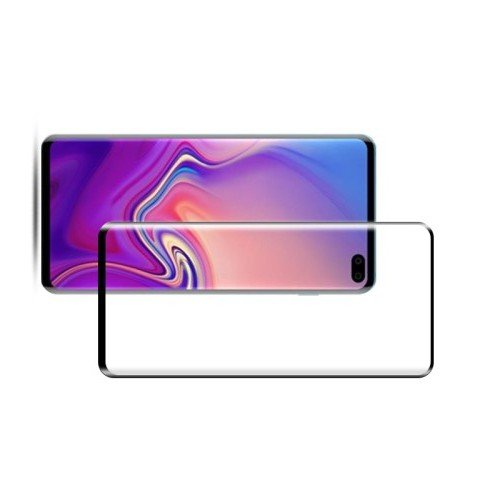 DF Изогнутое защитное 3D стекло для Samsung Galaxy S10 - Черное