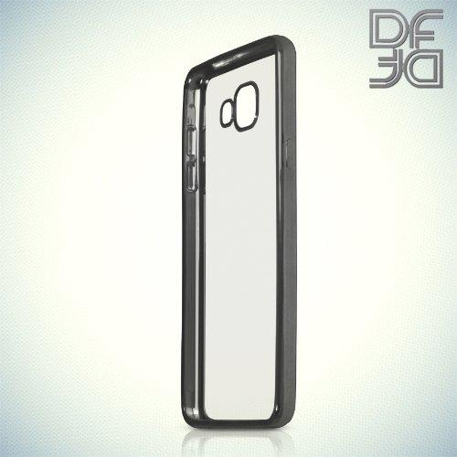 DF силиконовый чехол для Samsung Galaxy A5 2016 SM-A510F с металлизированными краями - Черный